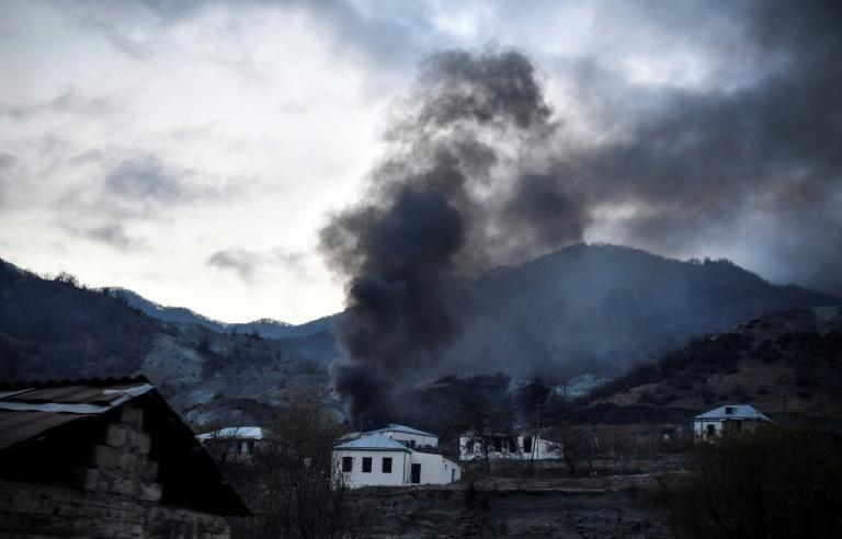 Some villagers set their homes on fire before fleeing