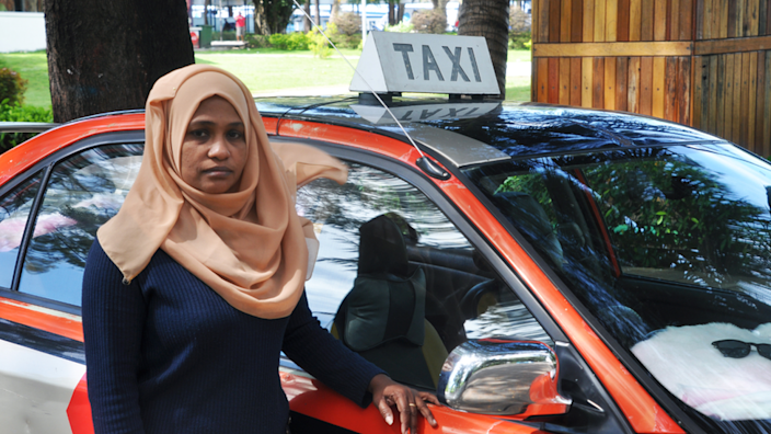 Amina Waheeda and other taxi drivers used to be unable to pick up fares at the airport
