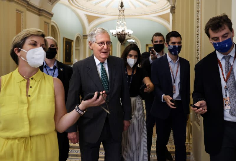 U.S. Senate to vote on amendments to the bipartisan infrastructure deal in Washington