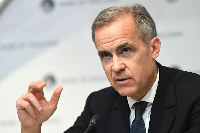 Outgoing governor of the Bank of England Mark Carney speaks during a news conference in London on 11 March. (Peter Summers/AFP via Getty)