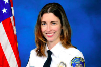 <p>Rachael Parker, a police records technician, died in hospital, according to the Manhattan Beach Police Department. Parker was among four department employees who were attending the Route 91 Harvest Festival while off-duty. (Manhattan Beach Police Department) </p>