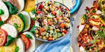 """<p>No BBQ is complete without a deliciously-dressed salad, that's packed with all sorts of fresh ingredients. The perfect side dish and ultimate BBQ pairing, we've got everything from <a href=""""https://www.delish.com/uk/cooking/recipes/a30271089/halloumi-salad/"""" rel=""""nofollow noopener"""" target=""""_blank"""" data-ylk=""""slk:Aubergine, Harissa & Halloumi Salad"""" class=""""link rapid-noclick-resp"""">Aubergine, Harissa & Halloumi Salad</a> to <a href=""""https://www.delish.com/uk/cooking/recipes/a30438961/chicken-pasta-salad/"""" rel=""""nofollow noopener"""" target=""""_blank"""" data-ylk=""""slk:Chicken Pasta Salad"""" class=""""link rapid-noclick-resp"""">Chicken Pasta Salad</a> to <a href=""""https://www.delish.com/uk/cooking/recipes/a36273078/asparagus-salad/"""" rel=""""nofollow noopener"""" target=""""_blank"""" data-ylk=""""slk:Griddled Asparagus Salad"""" class=""""link rapid-noclick-resp"""">Griddled Asparagus Salad</a>. There's really no beating freshly-prepared BBQ salad! So, if you're in need of some side dish inspiration, we've got you covered. </p>"""