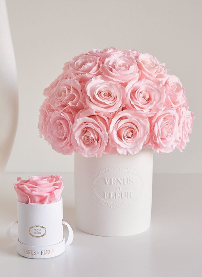 "<p>Inspired by Parisian hat boxes, curated by floral design experts at their New York atelier, and crafted with roses sourced from Ecuador, Venus et Fleur luxury preserved roses are meant to last for up to a year. With <a href=""https://www.venusetfleur.com/collections/classic/products/mini-round-classic"" rel=""nofollow noopener"" target=""_blank"" data-ylk=""slk:one rose"" class=""link rapid-noclick-resp"">one rose </a>starting at $44, a <a href=""https://www.venusetfleur.com/products?box=2d15f250-4f6e-11e8-a099-af911e2fc0bf&box_variant=4ca66410-4f6e-11e8-a099-af911e2fc0bf&flower_one=bd4bc710-cf64-11e9-bc20-81010a8f977e&flower_two=7d376dc0-cf62-11e9-bc20-81010a8f977e&source=preset&stencil=d28f3e80-4f6e-11e8-a099-af911e2fc0bf#/steps/arrangement/colors"" rel=""nofollow noopener"" target=""_blank"" data-ylk=""slk:box of four"" class=""link rapid-noclick-resp"">box of four</a> priced at $144, and many <a href=""https://www.venusetfleur.com/products?box=514e3380-c4f2-11e9-9a3a-095c6f196843&box_variant=f70a3cf0-c511-11e9-999a-2d40af86cbd9&stencil=61fe61f0-c51f-11e9-9e5f-e12cb656d61f&flower_one=a8c9e570-cf5e-11e9-bc20-81010a8f977e&flower_two=c47b2130-cf5e-11e9-bc20-81010a8f977e#/steps/arrangement/colors"" rel=""nofollow noopener"" target=""_blank"" data-ylk=""slk:options over $400"" class=""link rapid-noclick-resp"">options over $400</a>, you can also <a href=""https://www.venusetfleur.com/pages/design-your-own"" rel=""nofollow noopener"" target=""_blank"" data-ylk=""slk:personalize or design your own"" class=""link rapid-noclick-resp"">personalize or design your own</a> arrangement. The company ships worldwide, but same-day delivery is available for the NYC and Los Angeles metro area.</p><p><a class=""link rapid-noclick-resp"" href=""https://www.venusetfleur.com/pages/shop-now"" rel=""nofollow noopener"" target=""_blank"" data-ylk=""slk:SHOP NOW"">SHOP NOW</a></p>"