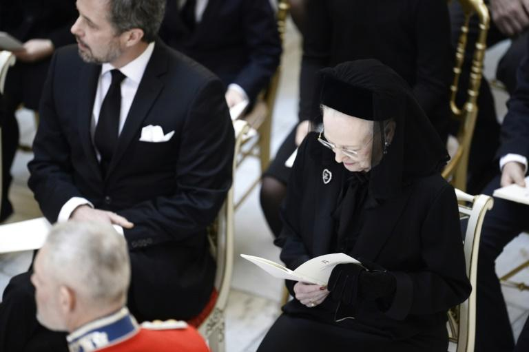 Denmark's Crown Prince Frederik nd Queen Margreth at Prince Henrik'S funeral in the Christiansborg Palace Chapel in Copenhagen