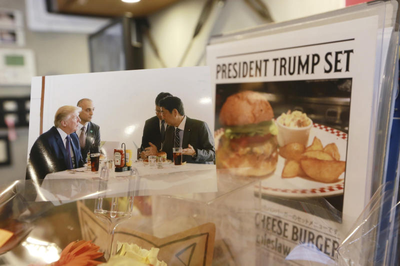 Trumps Cheeseburger In Japan Still Drawing Lines