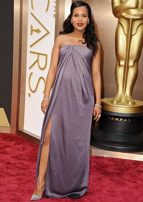 Kerry Washington took a walk on the wild side in her sky-high Christian Louboutin pumps at the 2014 Academy Awards.
