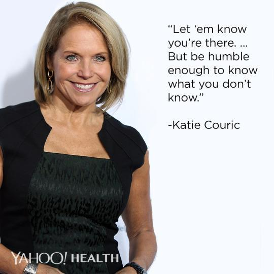"""<p>A boost in confidence can help you lose that extra five pounds, shave time off your 5K, muster up the nerves to call that love interest, even get you noticed at work, Yahoo Global News Anchor Katie Couric said to grads at the University of Wisconsin-Madison. <a href=""""https://www.youtube.com/watch?v=N7hra-i_Mv8"""" rel=""""nofollow noopener"""" target=""""_blank"""" data-ylk=""""slk:She recalled"""" class=""""link rapid-noclick-resp"""">She recalled</a> being a 22-year-old desk assistant and giving a list of ideas to a <i>20/20</i> correspondent. Impressed by the action, he later tapped her to be an associate producer on a CNN program — opening the doors to her later career successes.</p><p>(Photo: Corbis/Jennifer Mitchell)</p>"""