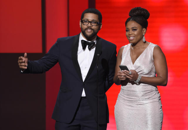 "<a class=""link rapid-noclick-resp"" href=""/ncaaf/players/245965/"" data-ylk=""slk:Michael Smith"">Michael Smith</a> and Jemele Hill has both left ""SportsCenter"" in recent weeks. (AP Photo)"