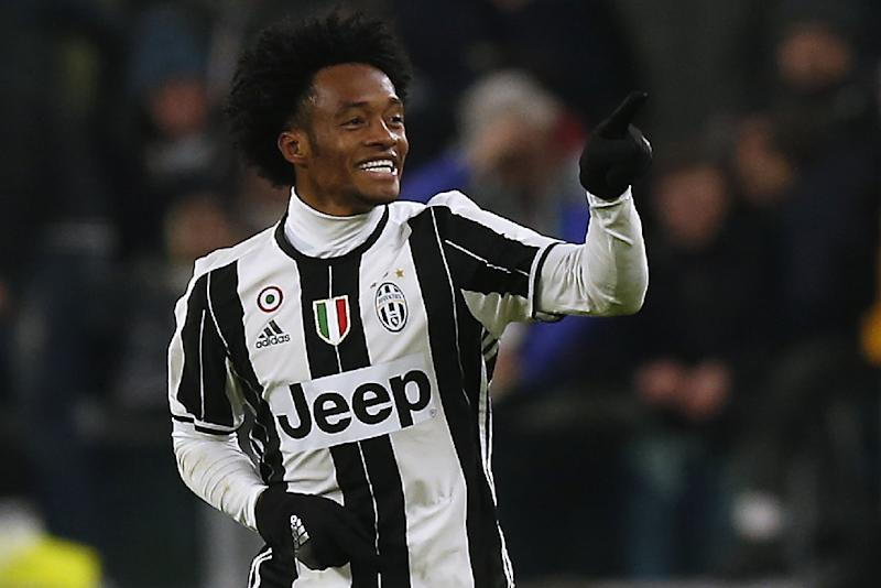 230620d9e78 Juventus  39  midfielder Juan Cuadrado celebrates after scoring a goal  during the Italian Serie