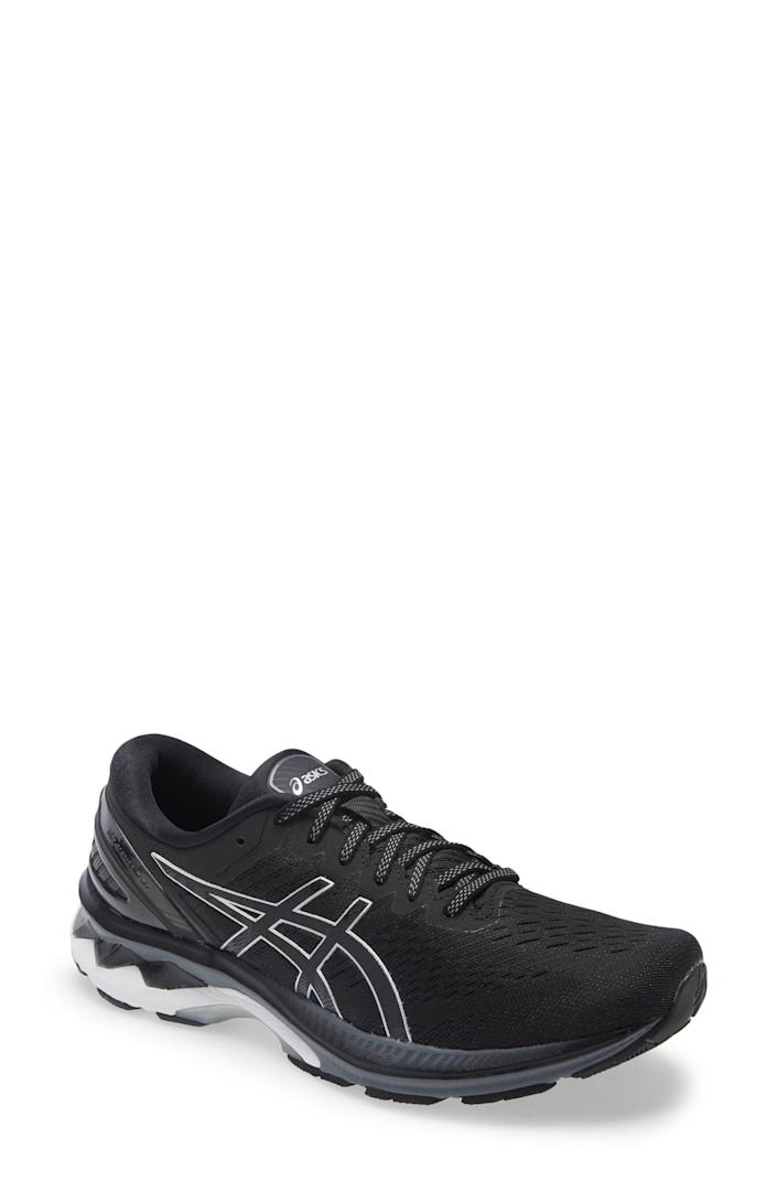 """<p><strong>ASICS</strong></p><p>nordstrom.com</p><p><a href=""""https://go.redirectingat.com?id=74968X1596630&url=https%3A%2F%2Fwww.nordstrom.com%2Fs%2Fasics-gel-kayano-27-running-shoe-men%2F5784739&sref=https%3A%2F%2Fwww.bestproducts.com%2Ffitness%2Fg37158206%2Fnordstroms-anniversary-sale-best-sneakers%2F"""" rel=""""nofollow noopener"""" target=""""_blank"""" data-ylk=""""slk:BUY IT HERE"""" class=""""link rapid-noclick-resp"""">BUY IT HERE</a></p><p><del>$160<br></del><strong>$99.90</strong></p><p>There's a reason why ASICS' GEL-Kayano 27 is one of the brand's most popular sneakers. The GEL detailing in the sole absorbs shock, while the FlyteFoam Propel cushion will give a major pep to your step. And, if you want a pair that will hold up over time, you're in luck: ASICS' High Abrasion Rubber withstands wear and tear.</p>"""