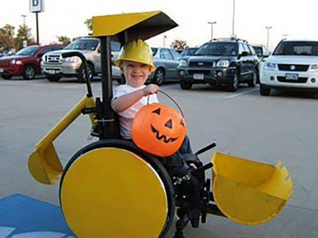 """<p>If your little trick-or-treater is fascinated with bulldozers, excavators and all things construction, consider a costume like this backhoe/scoop truck. Guaranteed to bring in a big haul of candy.</p><p><em><a href=""""http://themclellands.blogspot.com/p/calebs-costumes.html"""" rel=""""nofollow noopener"""" target=""""_blank"""" data-ylk=""""slk:See more at The McLellands »"""" class=""""link rapid-noclick-resp"""">See more at The McLellands »</a></em></p>"""