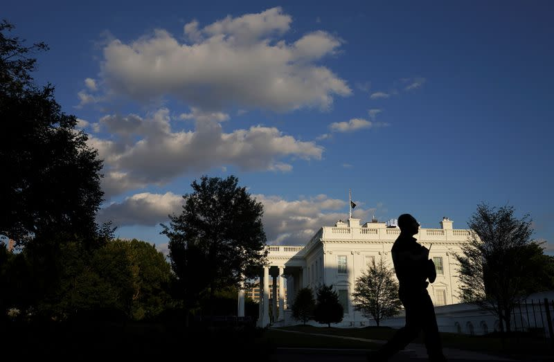 The White House on the evening the continuing resolution bill was passed in Washington