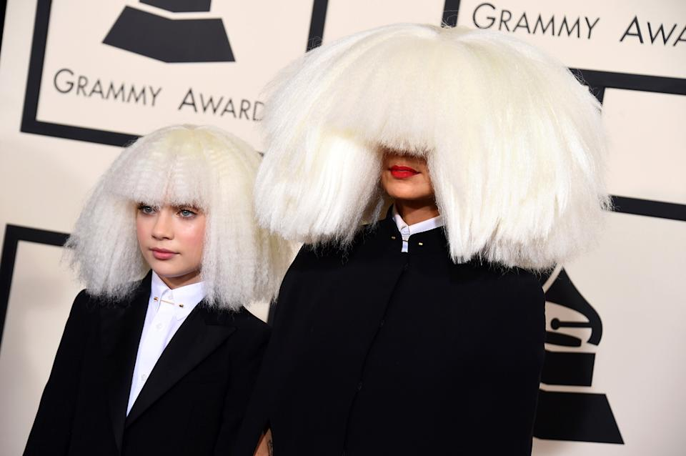 Maddie Ziegler and Sia attend the Grammy Awards in 2015. (Photo by Jordan Strauss/Invision/AP)