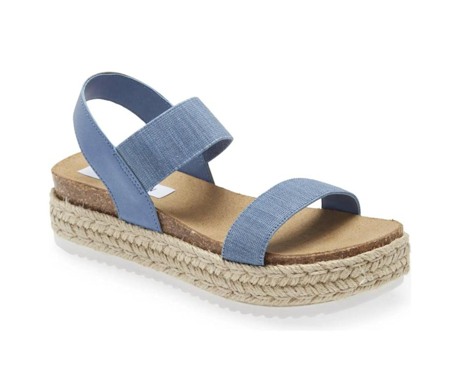 <p>These <span>Steve Madden Jaklyn Espadrille Platform Sandal</span> ($70) adds a summery touch and earthy texture to any look.</p>