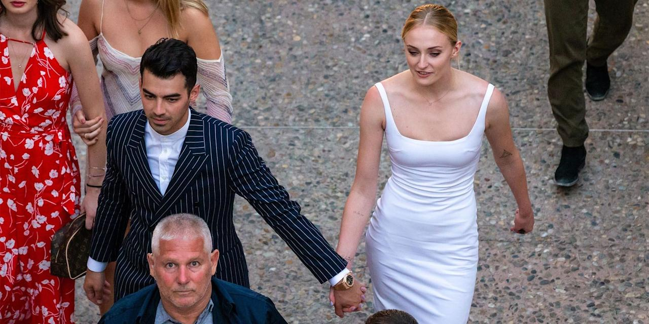 """<p>Over the weekend, <em>Game of Thrones</em> star <a href=""""https://www.harpersbazaar.com/celebrity/latest/a27374737/sophie-turner-joe-jonas-new-york-style/"""" target=""""_blank"""">Sophie Turner</a> and  <a href=""""https://www.harpersbazaar.com/celebrity/latest/a25378554/sophie-turner-joe-jonas-wedding-date-venue-guest-details/"""" target=""""_blank"""">Joe Jonas</a> had a romantic second wedding in the south of France. Naturally, the couple's closest family members and friends, including Maisie Williams, Kevin Jonas, Nick Jonas, and Priyanka Chopra, joined the festivities to celebrate the couple's union. Click through to see the best photographs from Turner and Jonas's wedding weekend where they rocked matching outfits, looked jaw-dropping for their actual wedding ceremony, and partied it up with their closest friends.</p>"""