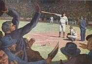 """<p><strong>September 28, 1932</strong>: Did Babe Ruth predict his home run in Game 3 of the 1932 World Series? """"No one knows if he was pointing at the dugout or at the flagpole,"""" said Lanctot. We know that Ruth didn't majestically point to the fence, as seen in a pair of campy Hollywood biopics. We also know that Ruth played along with the Chicago fans' and players' heckling, holding up one finger after the first called strike and two after the second. """"It only takes one to hit it,"""" he is reported to have said.<br> </p>"""