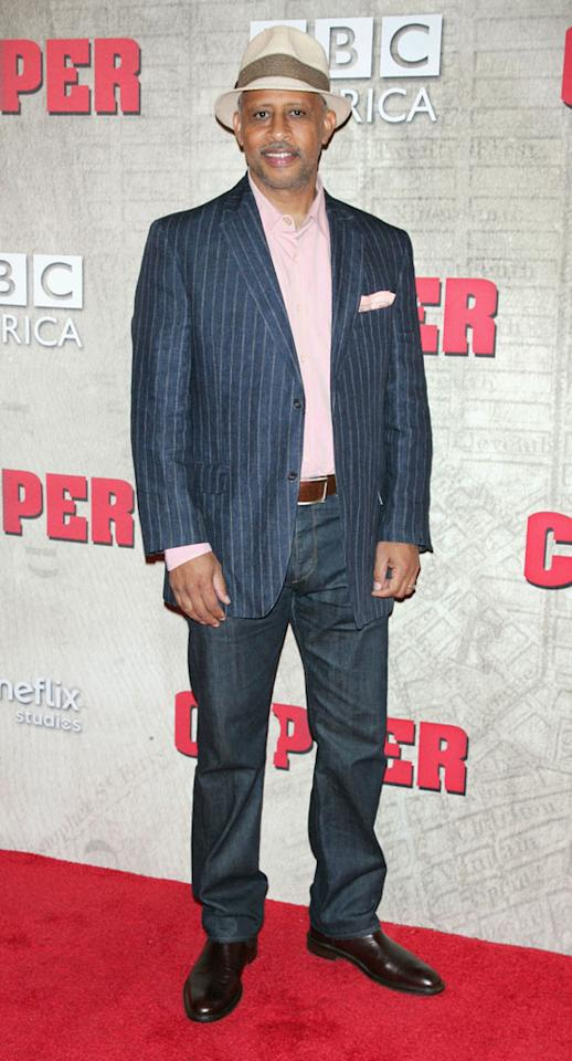 """Ruben Santiago-Hudson attends the """"Copper"""" premiere at The Museum of Modern Art on August 15, 2012 in New York City."""