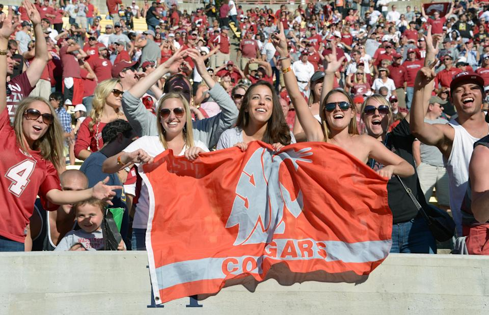 College football flags are being spotted at the World Cup (Photos)