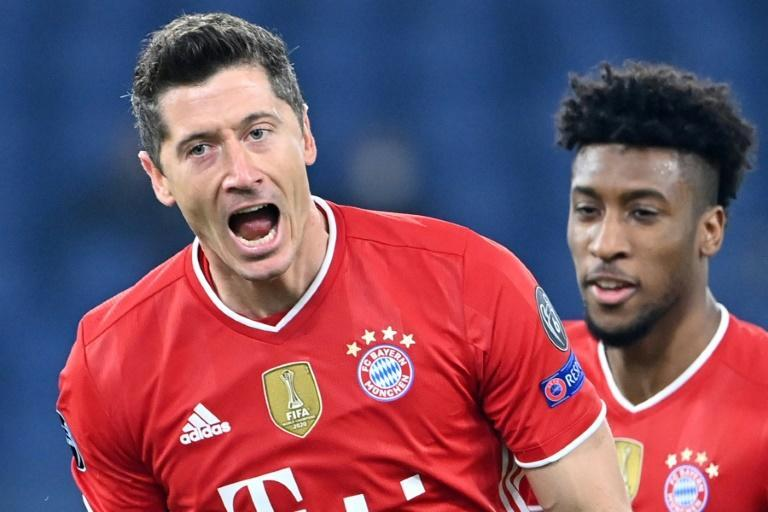 Lewandowski moved solo third on the all-time list with his 72nd Champions League goal