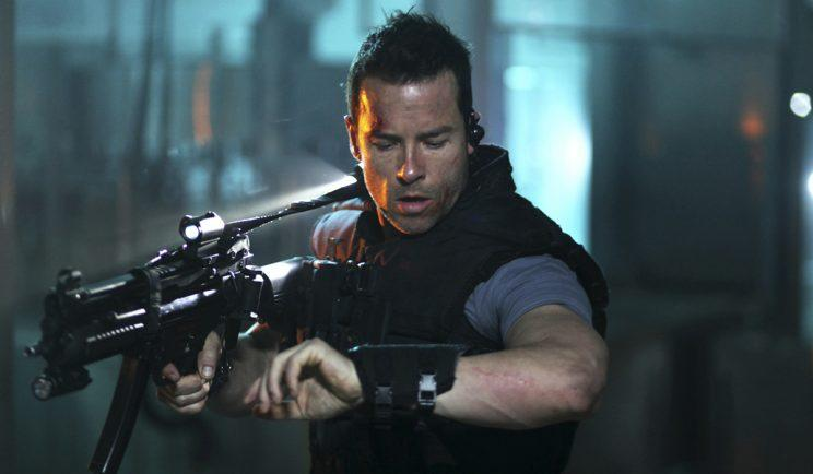 Guy Pearce emulates Kurt Russell in 'Lockout' - Credit: OutNow