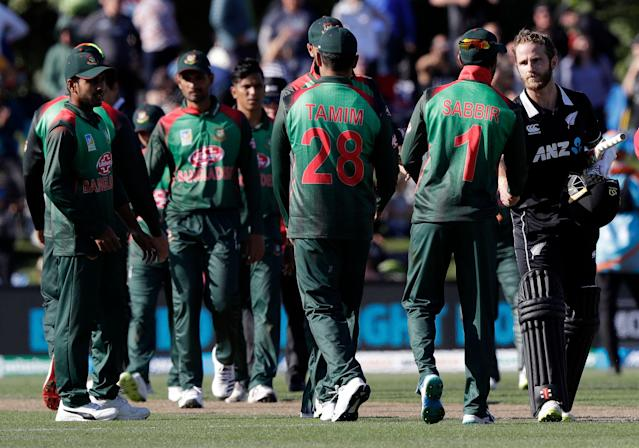 Bangladesh's scheduled match against New Zealand was canceled after a mass shooting at a mosque in New Zealand. (AP Photo/Mark Baker)
