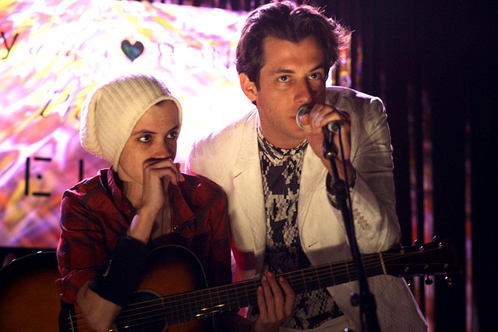 "The woman of the hour's sister, DJ Samantha Ronson, and her older brother, music producer Mark Ronson, churned out some beats onstage. Chris Weeks/<a href=""http://www.wireimage.com"" target=""new"">WireImage.com</a> - May 4, 2010"