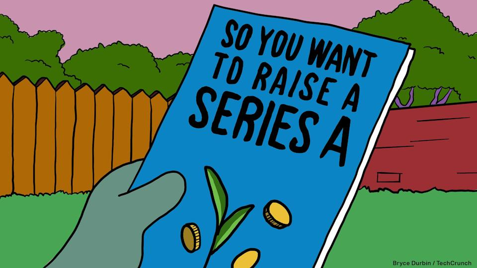 """So you want to raise a Series A"" pamphlet in the style of ""The Simpsons"""