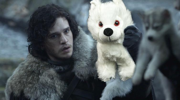 """You can buy """"Game of Thrones"""" stuffed direwolves at Comic-Con, and they are THE cutest"""