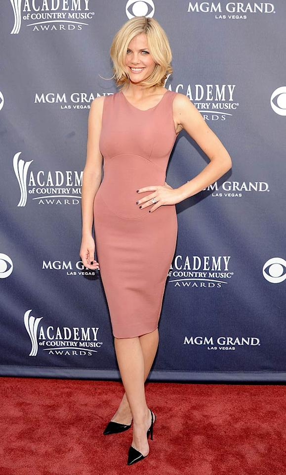"""Brooklyn Decker  Grade: B+   Model/actress Brooklyn Decker modeled her new, short 'do in a simple -- yet classy -- form-fitting Victoria Beckham frock. Rick Diamond/ACMA2011/<a href=""""http://www.gettyimages.com/"""" target=""""new"""">GettyImages.com</a> - April 3, 2011"""
