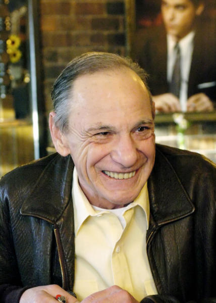 "FILE - In this Feb. 22, 2005 file photo, Henry Hill sits in the Firefly restaurant in North Platte, Neb. Hill, whose life as a mobster and FBI informant was the basis for the Martin Scorcese film ""Goodfellas,"" has died. Hill's girlfriend Lisa Caserta says he died in a Los Angeles hospital after a long illness. He was 69. (AP Photo/Nati Harnik)"