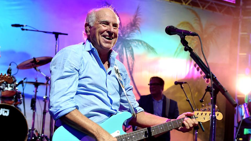 LOS ANGELES, CA - JUNE 09:  Musician Jimmy Buffett performs at the after party for the premiere of Universal Pictures'