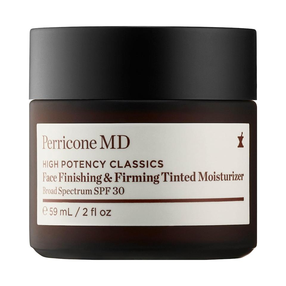 <p>The <span>Perricone MD High Potency Classics: Face Finishing &amp; Firming Moisturizer Tint SPF 30</span> ($69) smells like a rose garden and makes your skin look positively dreamy.</p>