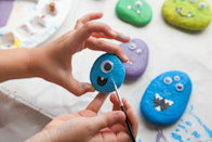 "<p>Painting rocks never gets old, especially when you throw googly eyes and monster faces into the mix. Once they're dry, you can scatter them throughout the house for a makeshift scavenger hunt. </p><p><em><a href=""https://www.craftymorning.com/stone-halloween-monsters-craft/"" rel=""nofollow noopener"" target=""_blank"" data-ylk=""slk:Get the tutorial at Crafty Morning »"" class=""link rapid-noclick-resp"">Get the tutorial at Crafty Morning »</a></em></p>"