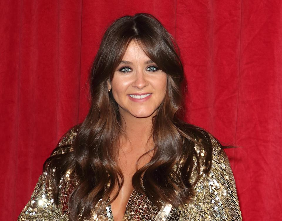 MANCHESTER, UNITED KINGDOM - 2019/06/01: Brooke Vincent arrives on the red carpet during The British Soap Awards 2019 at The Lowry, Media City, Salford in Manchester. (Photo by Keith Mayhew/SOPA Images/LightRocket via Getty Images)