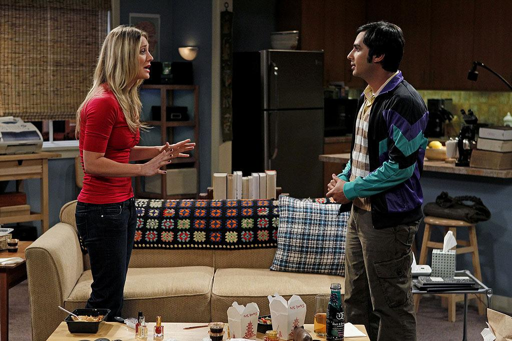 """The Skank Reflex Analysis"" -- The gang deals with the aftermath of Penny (Kaley Cuoco, left) and Raj's (Kunal Nayyar, right) night together, while Sheldon takes command of the paintball team, on the fifth season premiere of THE BIG BANG THEORY, Thursday, Sept. 22 (8:00-8:31 PM, ET/PT) on the CBS Television Network.   Photo: Cliff Lipson/CBS ©2011 CBS Broadcasting Inc. All Rights Reserved. Big Bang Theory"