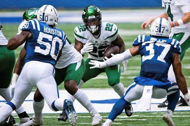Jets rookie Perine likely to have bigger role with Bell gone