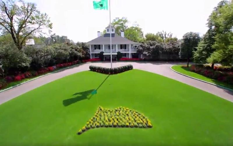 The lawn in front of the August golf club - Credit: @TheMasters/Twitter