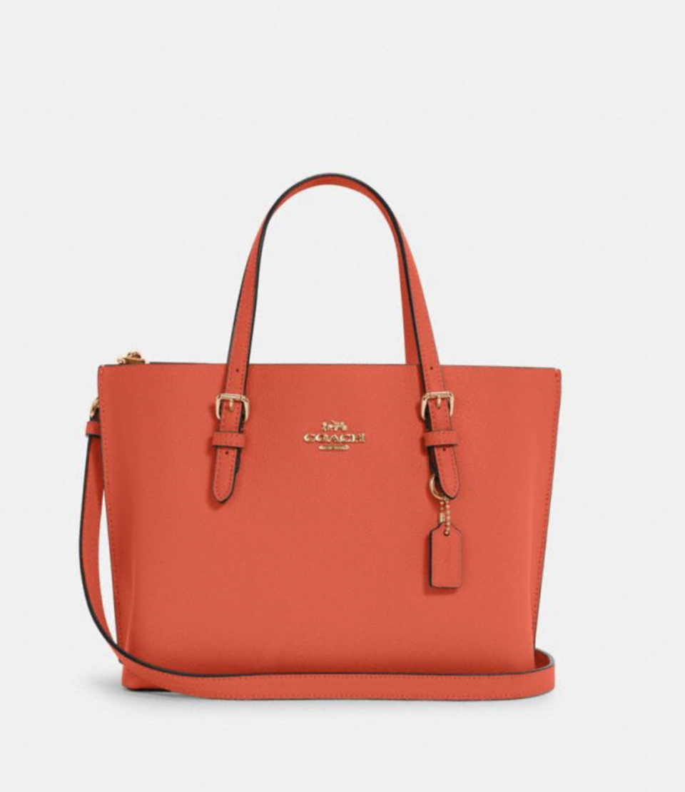 Mollie Tote 25 in Mango (Photo via Coach Outlet)