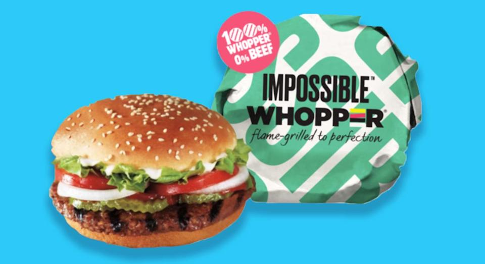 Vegan food fans can now purchase a meat-free 'Whopper' at Burger King. [Photo: Burger King]