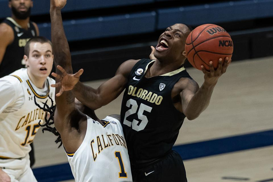 Colorado Buffaloes guard McKinley Wright IV leads his team into this week's Pac-12 tournament. (Photo by Bob Kupbens/Icon Sportswire via Getty Images)