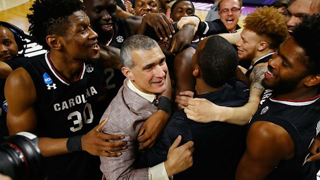 "Frank Martin is, at heart, an educator, which is why he embraced the characterization that he was ""nothing but a high school coach."" That mindset still guides him as he approaches the Sweet 16 with the Gamecocks."