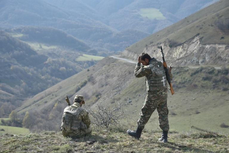 Reservists in the Shusha region last week