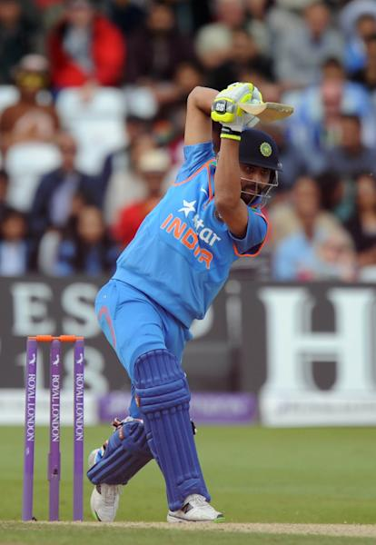 India's Ambati Rayudu bats during the third one-day international cricket match between England and India at Trent Bridge in Nottingham on August 30, 2014 (AFP Photo/Olly Greenwood)