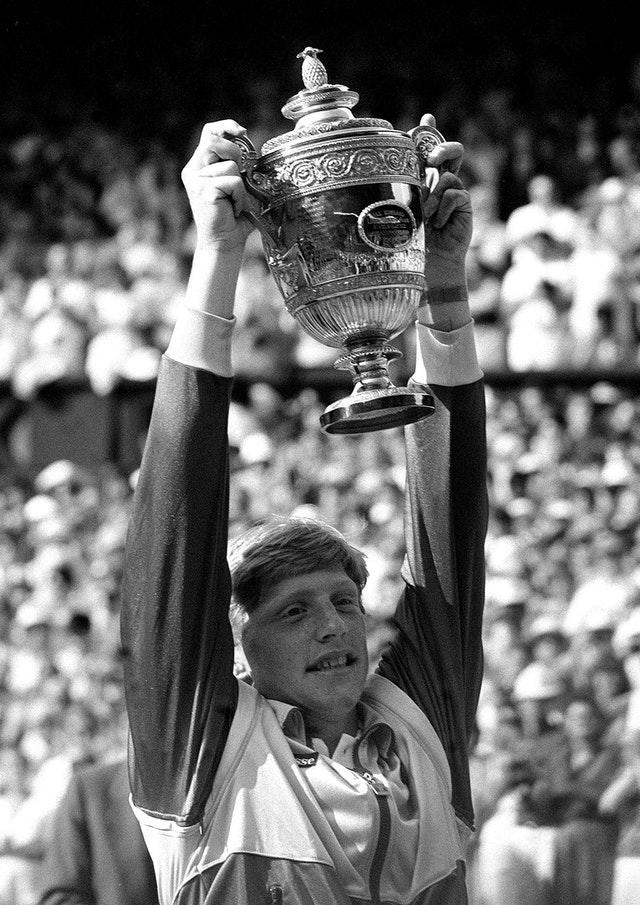 BORIS BECKER WITH TROPHY