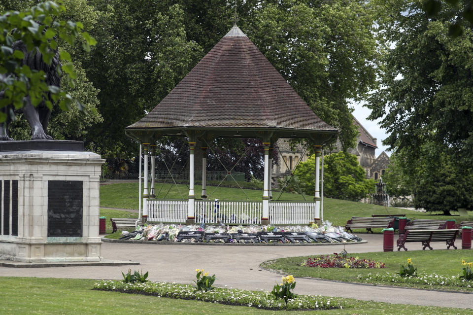 The attack took place at Forbury Gardens in Reading. (PA)