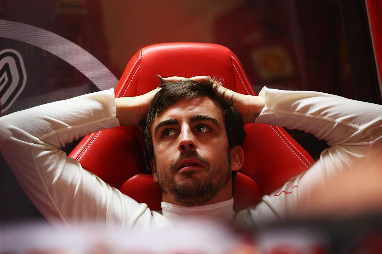 MELBOURNE, AUSTRALIA - MARCH 15:  Fernando Alonso of Spain and Ferrari prepares to drive during practice for the Australian Formula One Grand Prix at the Albert Park Circuit on March 15, 2013 in Melbourne, Australia.  (Photo by Robert Cianflone/Getty Images)