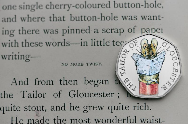 A new coin featuring a helpful mouse from the Tale of Gloucester (Royal Mint)