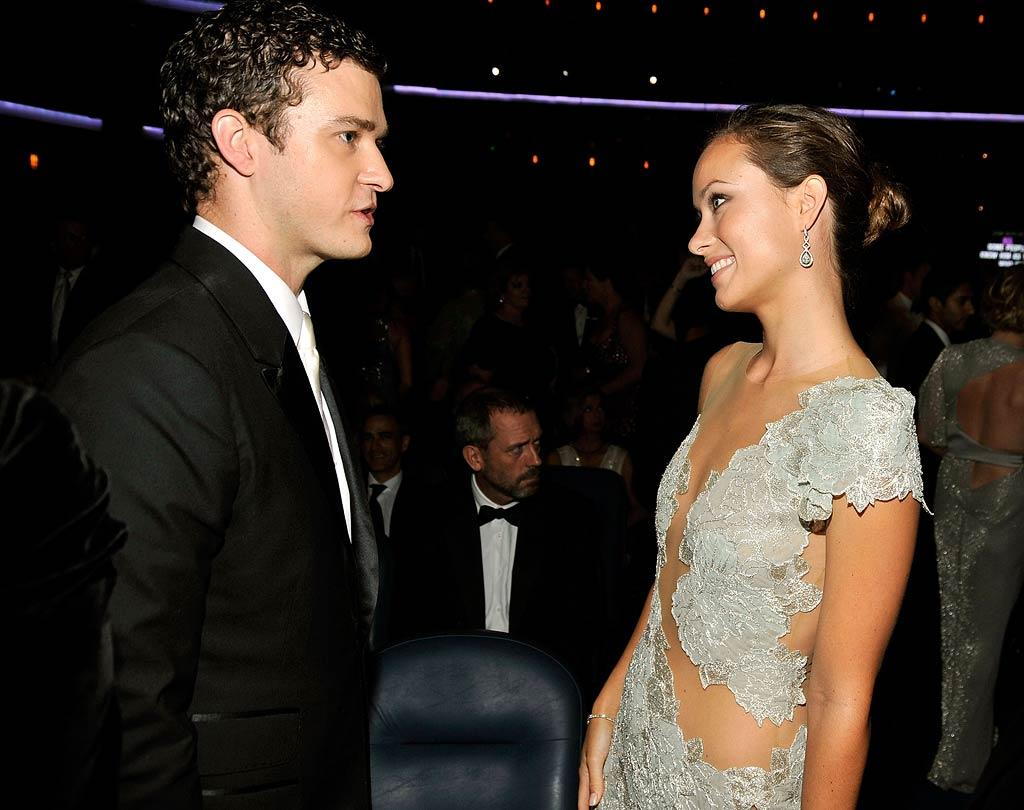 """According to Perez Hilton, things are """"heating up"""" between Justin Timberlake and Olivia Wilde. The blogger reports the two were spotted """"getting awfully close to each other"""" at a restaurant Timberlake owns in New York. For details about their """"blossoming romance,"""" and why they're keeping it under wraps, check out what a Timberlake pal reveals exclusively to <a href=""""http://www.gossipcop.com/justin-timberlake-olivia-wilde-dating-hooking-up-new-york/"""" target=""""new"""">Gossip Cop</a>. Mathew Imaging/<a href=""""http://www.wireimage.com"""" target=""""new"""">WireImage.com</a> - September 20, 2009"""
