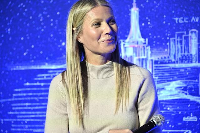 Gwyneth Paltrow hosts a panel discussion at the JVP International Cyber Center grand opening on February 03, 2020 in New York City. (Photo by Gary Gershoff/Getty Images)