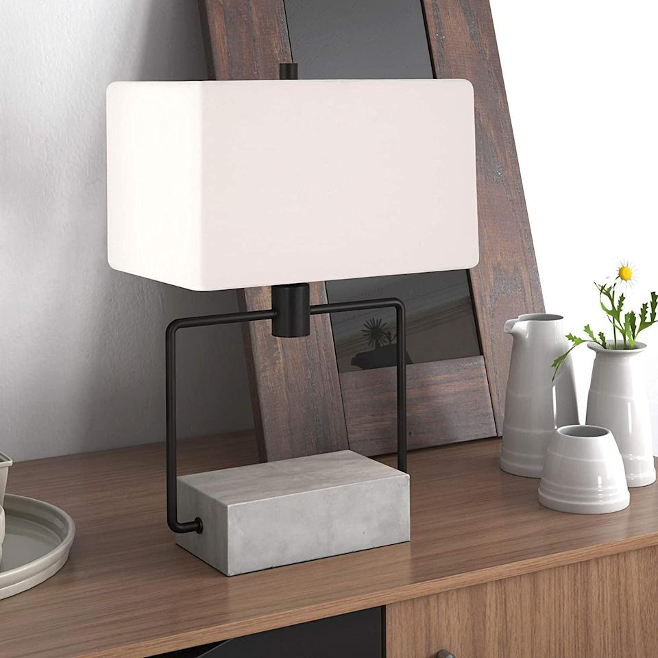 <p>The design of this <span>Henn&Hart Contemporary Modern Bedside Table</span> ($71, originally $80) is so cool.</p>